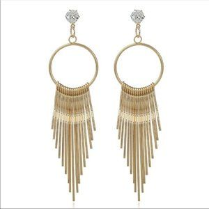 FREE with bundle, gold tassel earrings